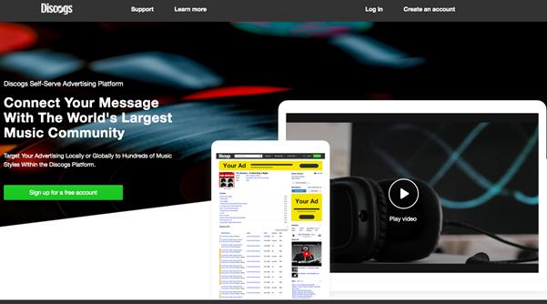 Discogs self-serve platform